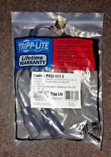 TRIPP LITE Standard Power Extension Cord Y Splitter Cable  10A   5-15P to 5-15R