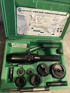 GREENLEE 7806SB / 7804SB Quick Draw Hydraulic Punch Driver Set