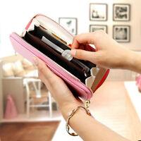 Fashion Lady and Women Long Card Holder Case Leather Clutch Wallet Purse Handbag