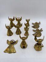 Vintage mini brass angels lot of 12