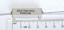 TRW 500 Ohm 7 Watt 5% PW-7 Wirewound Power Resistor 2 pieces