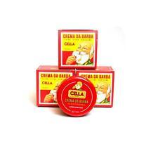 3 confezioni di Sapone crema da barba Cella 150 ml a base di olio di mandorle