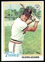 1978 Topps Glenn Adams Minnesota Twins #497