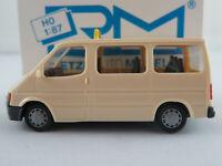 """Rietze 30521 Ford Transit Bus (1986) """"TAXI"""" in hellelfenbein 1:87/H0 NEU/OVP"""