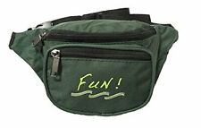 10 Pk Yens 3 Zippered Fanny Pack w/ Fun Logo, Hunter Green