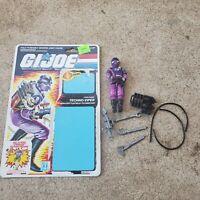 Vintage GI Joe Figure 1987 Techo-Viper complete with full file card