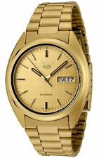 Seiko 5 SNXL72 Men's Gold Tone Stainless Steel Gold Dial Automatic Watch