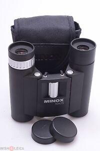 ✅ MINOX BD 10X25 R *MINT* BINOCULARS W/ CASE, STRAP & CAPS