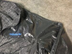 Adidas Windbreaker Windrunner Black & Grey Reversible Jacket - XL
