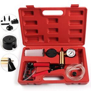 Hand Held Vacuum Pump Brake Clutch Bleeder Tester Set Bleeding Kit Car Motorbike