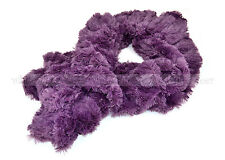 Faux Fur Solid Color Pull Through Collar Neck Wrap Loop Infinity Scarf Warm