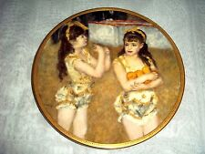 Children of Renoir Plate Two Little Circus Girls