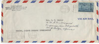 1956 Marion Indiana C36 airmail cover to Belgian Congo [1595]