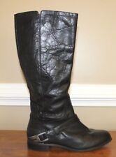 Ugg Channing II Womens Black Leather Harness Knee High Riding Boots Shoes Size 7