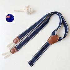 Cute Boys Kids Children Baby Pants Fashion Denim Brace Suspender Belt 6month-4yr