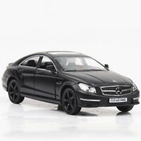 1:36 CLS 63 AMG Model Car Diecast Toy Vehicle Matte Black Pull Back Kids Gift