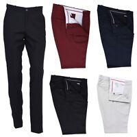Mens Retro Sta Press Trousers Classic Slim Fit Vintage 60s 70s Mod Pants Slacks