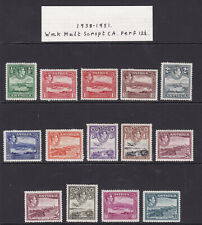 Antigua. 1938-51. SG 98-109 + shades, 1/2d to £1. Fine mounted mint.