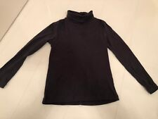 TU SAINSBURYS GIRLS GREY RIBBED ROLL NECK LONG SLEEVE T-SHIRT- 5-6 YRS 110-116CM