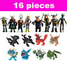 16pcs How to Train Your Dragon Hiccup Astrid Toothless Toys Action Figures Dolls