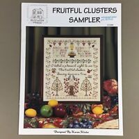 Fruitful Clusters Sampler cross stitch chart Rosewood Manor S-1295 birds trees