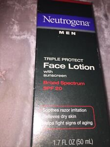 Neutrogena Triple Protect Face Lotion for Men, SPF 20, 1.7 Ounce NEW IN BOX N