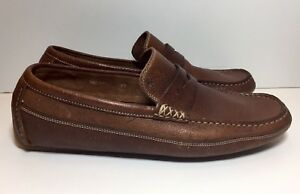 HARRYS of London Brown Leather Loafers Slip On Driving Drivers Shoes 8 / 42