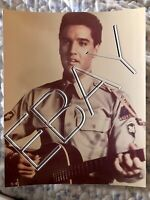 ELVIS PRESLEY 8x10 ORIGINAL PHOTO On Old Kodak Paper
