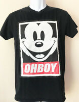 vtg MICKEY MOUSE OHBOY Oh Boy Disney t-shirt Small fit Funny Obey Fairey Small