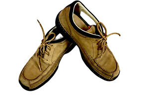 TIMBERLAND SMART COMFORT MENS LACE UP BROWN/BEIGE LEATHER SHOE