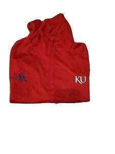 Adidas Kansas Jayhawks 1/4 Zip Jacket Size XLT