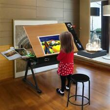 Adjustable Drafting And Art Table W/ Stool Non Woven Tilting Angle Adjustment