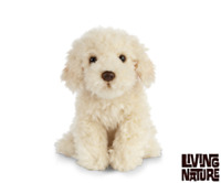 LIVING NATURE LABRADOODLE - AN463 REALISTIC SOFT CUDDLY STUFFED PLUSH ANIMAL DOG
