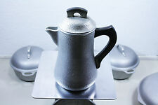 Vintage Silver Seal Hammered Aluminum Pitcher Coffee Pot Carafe 8 Cup With Lid