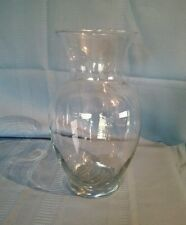 Large Clear Glass Urn Shape Vase / Beta Fish Bowl