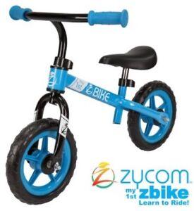 "Blue Boys Balance Kids Bike Zycom My 1st Bike 10"" Wheels Age 18-36months"