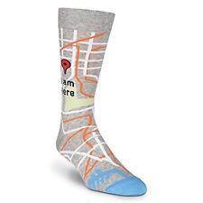 (31127) K. Bell Men's I Am Here Crew Socks, Gray Heather, Shoe Size 6.5-12, 1 Pr