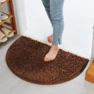 Bathing Slip-resistant Rug Floor Door Mat Semi Circle Floor Door Cushion Mat Rug