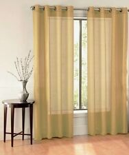 "1 PURE SOLID BRONZE 8 GROMMET SHEER WINDOW PANEL CURTAIN TREATMENT DRAPE 55""X63"""