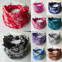 Women Yoga Wide Headband Elastic Boho Lady Sports Hair Band Head Wrap Wristband