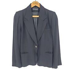 Vtg Ann Demeulemeester Blazer Womens S? Black Jacket Italy