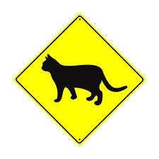 Caution Cat Crossing Animal Xing Metal Aluminum Novelty Road Sign 12x12