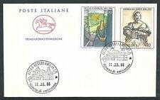 1986 ITALIA FDC CAVALLINO ARTE ITALIANA NO TIMBRO ARRIVO - CV1986-4