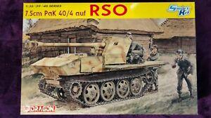 Dragon 6640 1:35 7.5cm Pak 40/4 auf RSO SP Anti-Tank Gun Model Kit *SEALED BAGS*