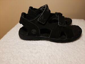 Timberland Kids Boys Shoes Sandles Toddler Size 10 Black EUC
