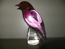 Murano Bird Vintage Glass Livio Seguso For Gral Glass Purple Bird