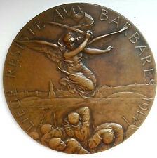 MEDAille medal bronze georges petit liege barbares france resistance 1919 wo 1