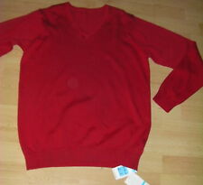 BNWT BOYS M&S MARKS & SPENCER  RED 100% PURE COTTON SCHOOL JUMPER 15-16 YEARS