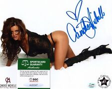 CANDICE MICHELLE - Signed 8x10 Photo #2 WWE Diva Auto  Playboy  SGC Certified