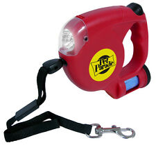 Dog Leash With Light and Bag Dispenser Retractable LED Flash Light Walk Pet Up
